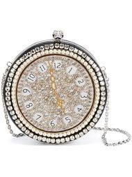 круглая сумка-часы 'Skull' с вышивкой Alexander McQueen