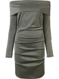 metallic off-shoulders dress Nicole Miller