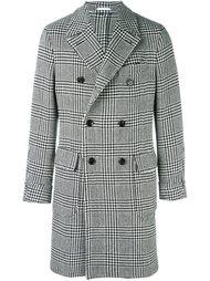 двубортное пальто в ломаную клетку Gabriele Pasini