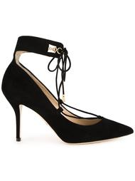 lace-up pointed toe pumps Paul Andrew