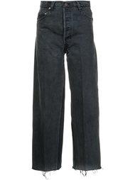 укороченные широкие джинсы Re/Done