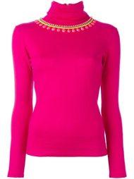 декорированный пуловер с отворотной горловиной Manish Arora