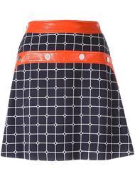 клетчатая юбка А-образного силуэта Courrèges