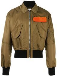 куртка бомбер с контрастной отделкой MSGM