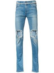 узкие рваные джинсы Christian Dada