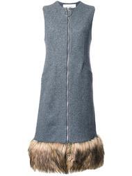 платье с меховой отделкой Le Ciel Bleu
