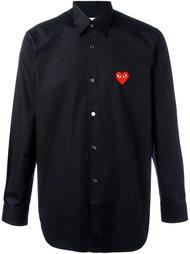 embroidered heart shirt Comme Des Garçons Play