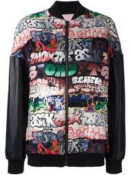 куртка-бомбер 'street art'  Giamba