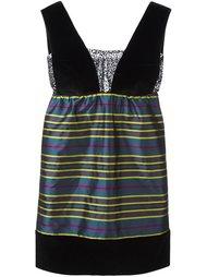 полосатое мини-платье  Isa Arfen