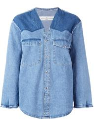 джинсовая рубашка без воротника Golden Goose Deluxe Brand