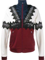 спортивная куртка с кружевными аппликациями Ganni