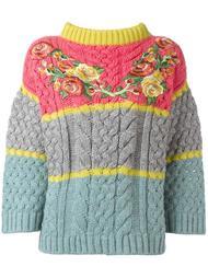 свитер с цветочной вышивкой  Antonio Marras