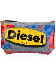 клатч с логотипом на молнии Diesel