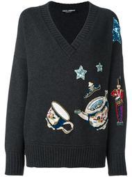 джемпер с нашивками Dolce & Gabbana