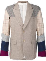 plaid contrast sleeve blazer Comme Des Garçons Homme Plus