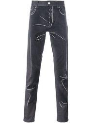 """джинсы с эффектом """"тромплей"""" Moschino"""