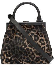 маленькая сумка-тоут с леопардовым принтом Perrin Paris