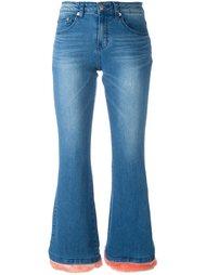 расклешенные джинсы с ворсистым подолом Steve J & Yoni P
