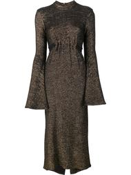 bell sleeve metallic dress Ellery