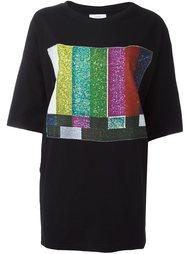 oversized printed front T-shirt Facetasm