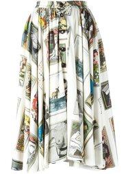 расклешенная юбка с принтом Olympia Le-Tan