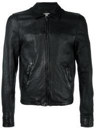 leather bomber jacket Pihakapi