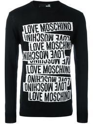 свитер с принтом Love Moschino