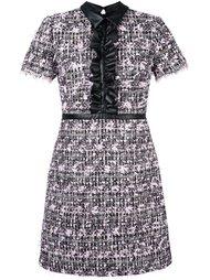 твидовое платье с рюшами Giamba