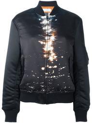 printed front bomber jacket Facetasm