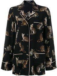 рубашка с принтом бенгальских кошек Dolce & Gabbana