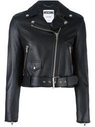 классическая байкерская куртка Moschino