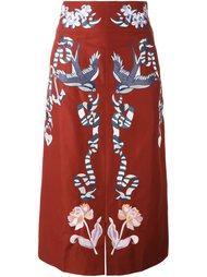 юбка миди с вышивкой Temperley London