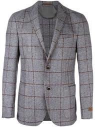 checked buttoned blazer Corneliani