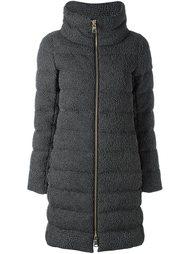 текстурированное пальто-пуховик Herno