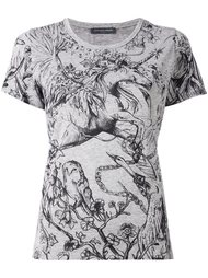 футболка с принтом единорога Alexander McQueen
