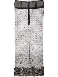 кружевная юбка с ручной вышивкой стразами Sophie Theallet