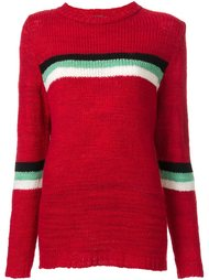 striped panel knitted jumper The Elder Statesman