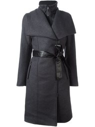 dislocated fastening belted coat Mackage