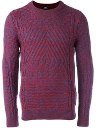 свитер контрастной вязки A.P.C.