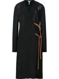 платье с запахом и завязками сбоку Loewe