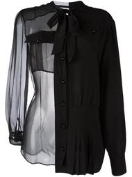 прозрачная рубашка с бантом Maison Margiela
