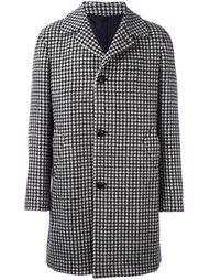 однобортное пальто в ломаную клетку Mp  Massimo Piombo