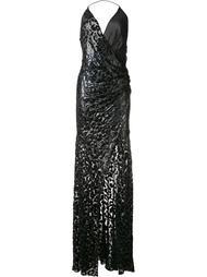 вечернее платье с люрексом и леопардовым рисунком Alexandre Vauthier