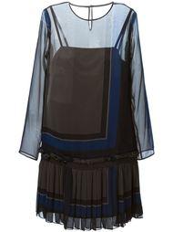 прозрачное платье с плиссированной юбкой Sacai