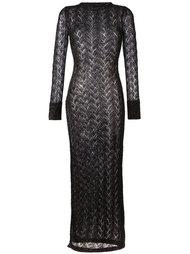 длинное полупрозрачное вязаное платье Sibling