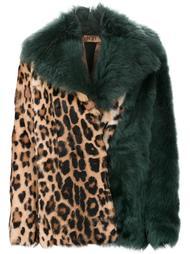 пальто с гепардовым узором Nº21
