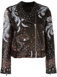 байкерская куртка с принтом перьев Htc Hollywood Trading Company