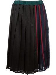 перфорированная плиссированная юбка  Muveil