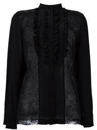 блузка с оборками и кружевными панелями Paul & Joe