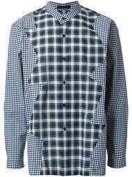 лоскутная рубашка  Christopher Kane